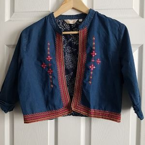 Vintage Tanisha Embroidered Jean Jacket